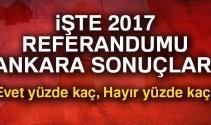 Son Dakika: Ankara referandum sonuçları 2017! Ankara oy sonuçları | Evet hayır oranı öğren