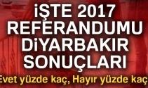 Son Dakika: Diyarbakır referandum sonuçları 2017! Diyarbakır oy sonuçları | Evet hayır oranı öğren