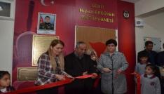 Şehit Niyazi Ergüven Kütüphanesi açıldı