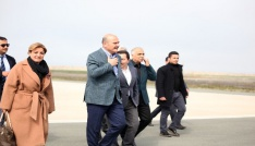 Sis nedeniyle Trabzona inemeyen İçişleri Bakanı Soylunun uçağı Giresun-Ordu Havalimanına iniş yaptı