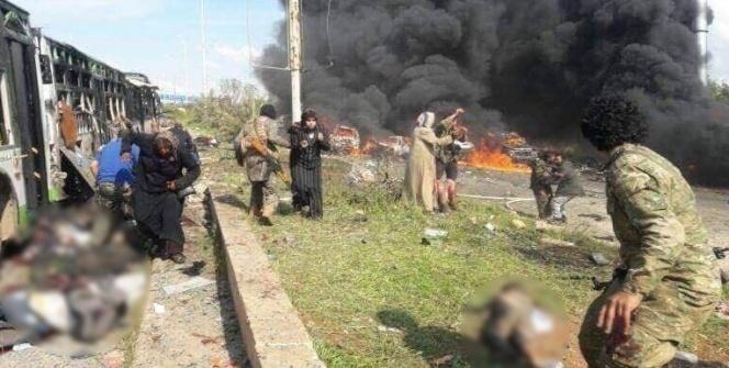 Suriye'de tahliye konvoyunda patlama