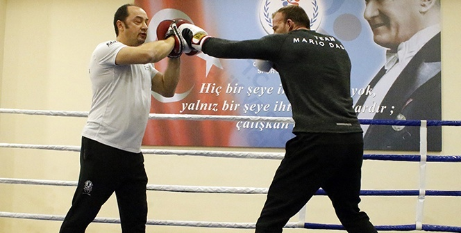 Altın kemere hazırlanan Alman boksörün Türkiye sevgisi