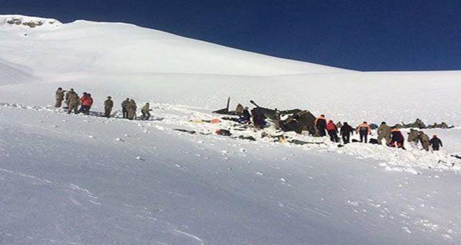 Helikopter enkazında incelemeler tamamlandı