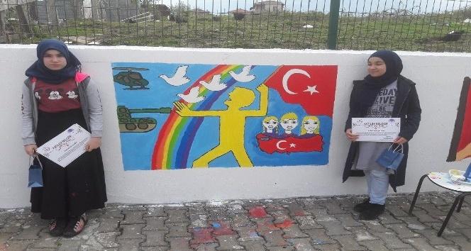 """Sinopta 15 Temmuz Kahramanları ve Şehitleri"""" konulu resim yarışması"""