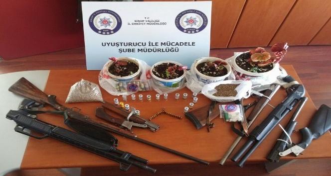 Sinopta uyuşturucu operasyonları