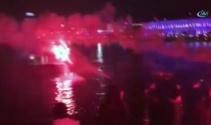 Beşiktaş'lı taraftarlardan Lyon'a ninni