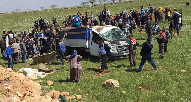 Şanlıurfada feci kaza: 4 ölü, 8 yaralı