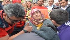 Şehit polis annesinin ölüm yıldönümünde toprağa verildi