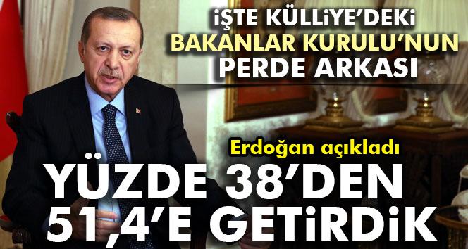 Erdoğan: Yüzde 38den aldık, 51,4e getirdik