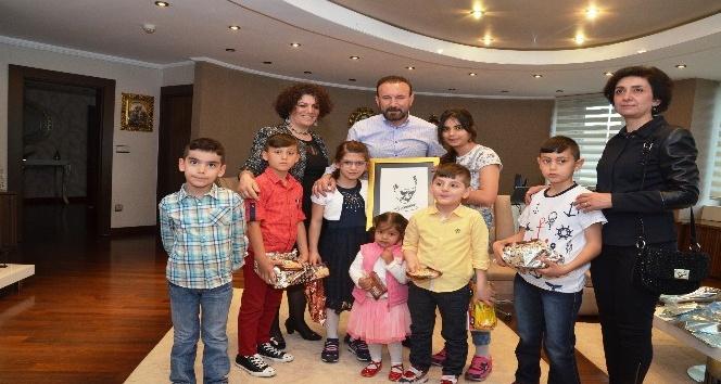Başkan Doğan ziyaretçilerini ağırladı