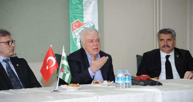 Bursaspor Başkanı Ali Aydan transfer açıklaması