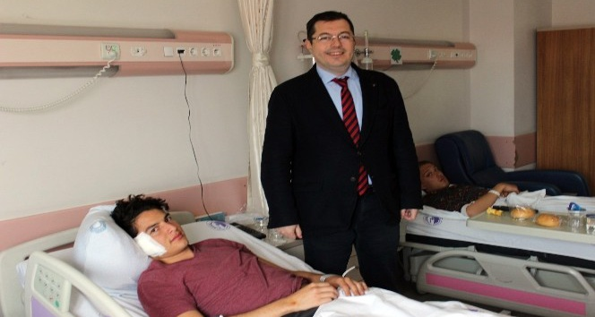 Kazada yaralanan 10 öğrencinin sağlık durumları iyi