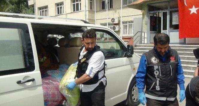 Osmaniye'de yorgan içerisinde uyuşturucu sevkiyatı
