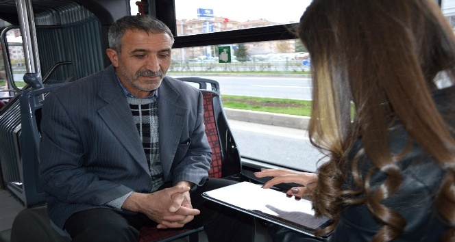 MOTAŞ'ın yaptığı ankete göre halkın yüzde 73'ü toplu taşıma hizmetinden memnun