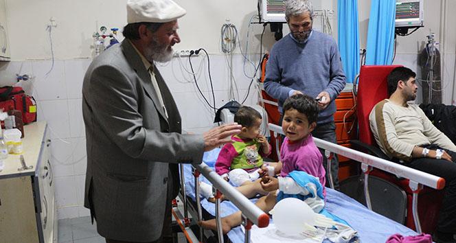 Suriyede yaralanan aile Türkiyeye sığındı