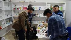 Mersinde Suriyelilere ait kaçak muayenehane ortaya çıkarıldı