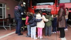 23 Nisan çocukları itfaiye personelini unutmadı