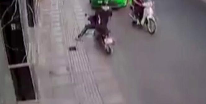 Taksici kapkaççıyı böyle durdurdu