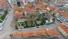 Beyşehirde yenilenen şadırvan meydanı göz kamaştırıyor