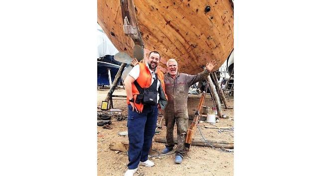 Ünlü komedyen Ata Demirer tekne onarımına da el attı