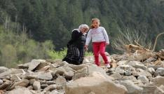 Trabzonda HES bağlantı borusu patladı