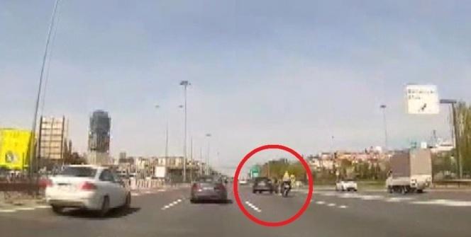FSM çıkışında feci kaza kamerada