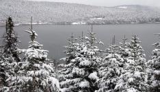Abantta kar manzarası büyülüyor