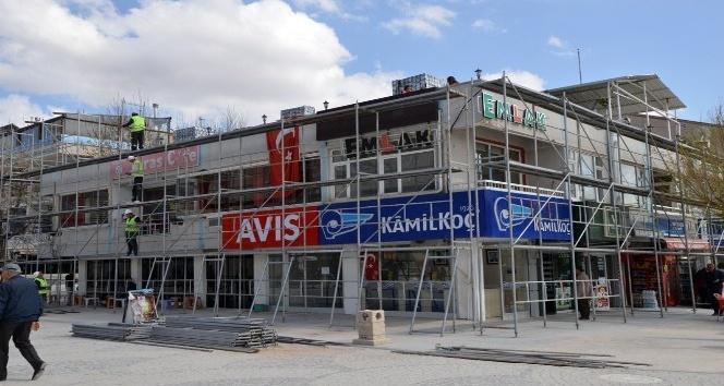 Kırşehirde binalara dış cephe iyileştirme projesine başlanıldı