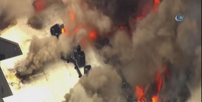 ABD'de üniversite yakınında yangın