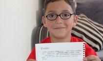Küçük Furkan'dan Cumhurbaşkanı Erdoğan'a 15 Temmuz mektubu
