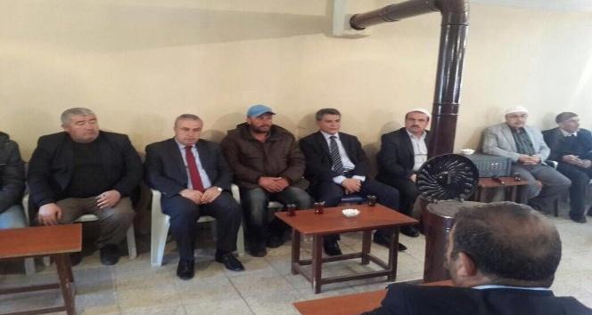 Kaymakam Özkandan şehit askerin ailesine taziye ziyareti