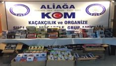 İzmirde kamyonet   içerisinde gümrük kaçağı eşyalar yakalandı.