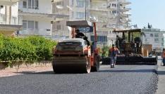 Muratpaşadan Şirinyalı Mahallesinde asfalt çalışması