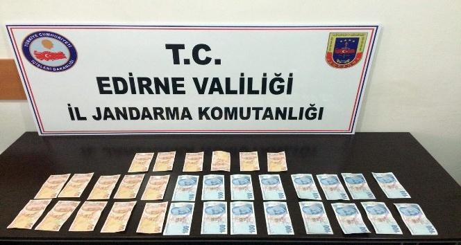 Piyasaya sahte para süren şebeke Edirnede çökertildi