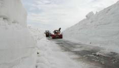 Nemrutta karla mücadele çalışmaları
