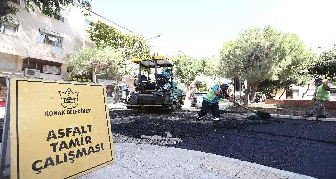 Konakın sokaklarına 40 bin ton asfalt