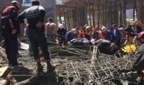 Samsunda cami inşaatı çöktü