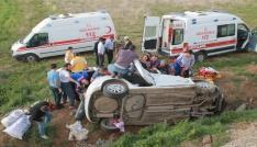 Elazığda otomobil şarampole uçtu: 2 ölü, 3 yaralı