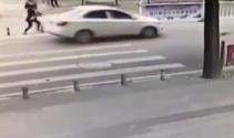 Korkunç kaza! Otomobil çocuğa böyle çarptı