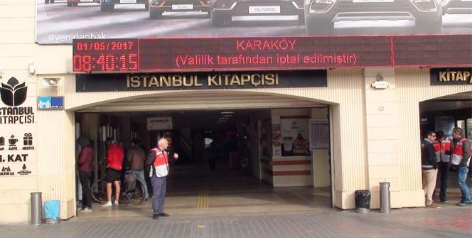 Kadıköy iskelelerinde 1 Mayıs önlemi