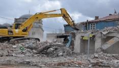 Osmanlı Mahallesi yıkım çalışmaları sürüyor