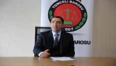 """Tunceli Barosundan Dersim Askeri Harekatı"""" başvurusu"""