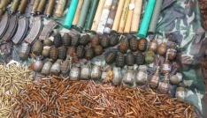 Teröristlerin mühimmat dolu 2 deposu ele geçirildi