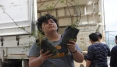 Öğrenciler kendi bahçesini yaptı