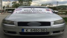 Ülkeye kaçak sokulan lüks otomobil Boluda yakalandı