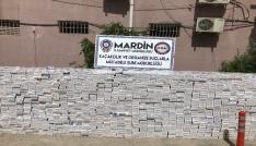 Mardinde 76 bin 800 paket kaçak sigara ele geçirildi