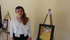 Kasaba okulundan profesyonelleri aratmayan resim sergisi