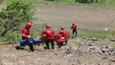 Bingölde kurtarma ekiplerinin tatbikatı gerçeği aratmadı
