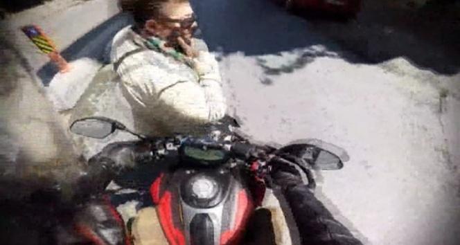 Kadına çarptığı görüntüleri sosyal medyada paylaştı