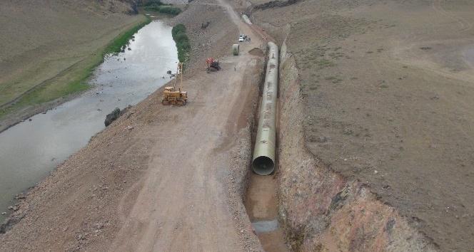 DSİnin Karsta sulama inşaatları devam ediyor